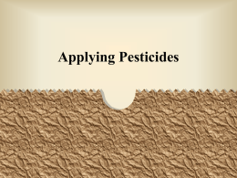 Applying Pesticides
