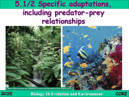 5.1 2 Specific adaptations in plants and animals - science
