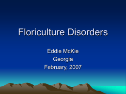 Floriculture Disorders Eddie McKie