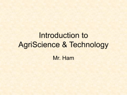 Introduction to AgriScience & Technology