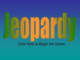 Flowering Plant Jeopardy