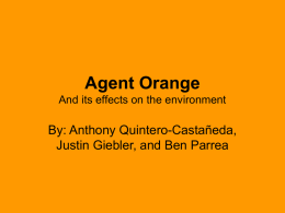 Agent Orange And its effects on the environment