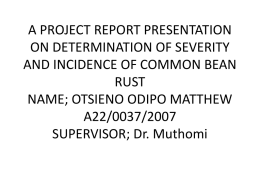 A PROJECT REPORT PRESENTATION ON DETERMINATION OF