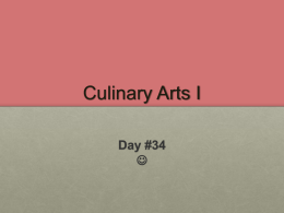 Welcome to Culinary Arts I - Waukee Community School District Blogs