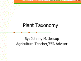 Plant Taxonomy-Naming plants PPT