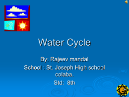 Water Cycle - Multiply The Message