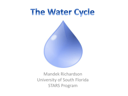 The Water Cycle - Stars - University of South Florida