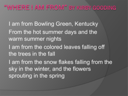Where I*m From* by Kirby Gooding