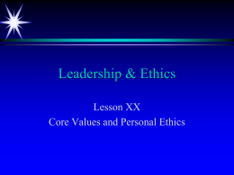 Navy Core Values Presentation