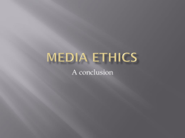 Ethics conclusion