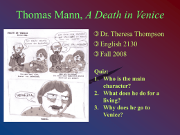 Thomas Mann, A Death in Venice
