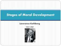 Stages of Moral Development