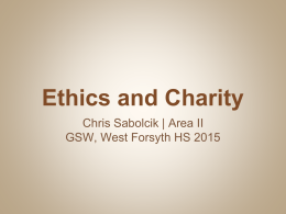 Ethics and Charity