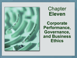 Corporate Performance, Governance, and Business Ethics