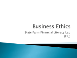 Business Ethics - FIU College of Business