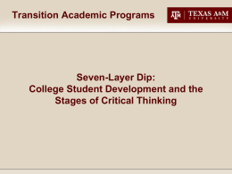College Student Development and the Stages of Critical Thinking