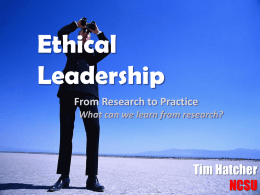 Ethical Leadership Scale