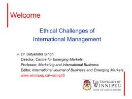 Ethical Challenges of International Management