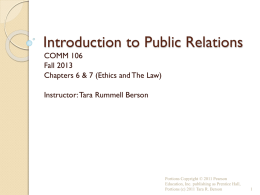 public relations and ethics - Sites @ Brookdale Community College