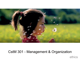 CstM 499 - Management & Organizational Behavior
