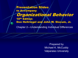 Chapter 2: Understanding Individual Differences