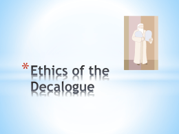 Ethics of the Decalogue