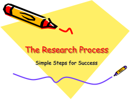 The Research Process - Santiago Canyon College