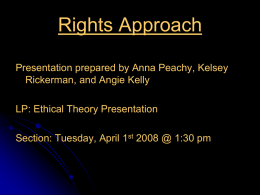 Khantian Ethics: Rights Approach