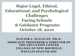 Psychological, Ethical, and Legal Challenges Facing