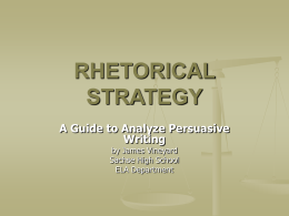 RHETORICAL STRATEGY