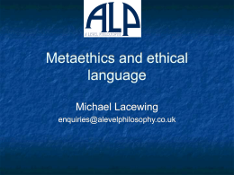 Metaethics and ethical language