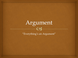 Argument - Mrs. Shaw