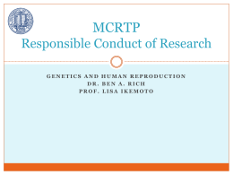MCRTP Responsible Conduct of Research