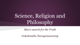 Science, Religion and Philosophy