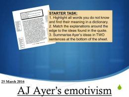 ayers emotivism - mrslh Philosophy & Ethics