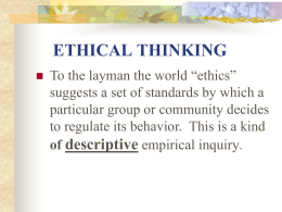ETHICAL THINKING