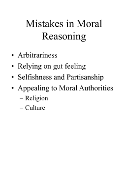 Mistakes in Moral Reasoning