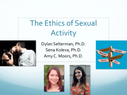 The Ethics of Sexual Activity