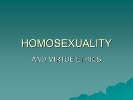 virtue ethics and homosexuality