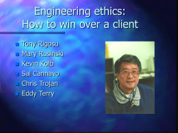 Engineering ethics: How to win over a client