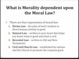 Principles of Morality Part II