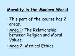 Morality in the Modern World
