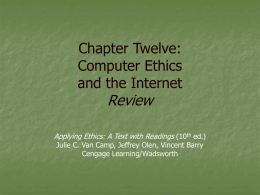 Chapter Twelve: Environmental Ethics