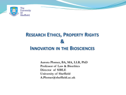 Intellectual property - University of Sheffield