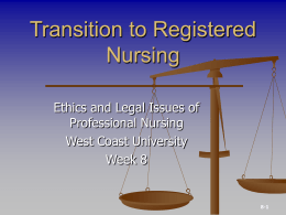 Transition to Registered Nursing: Ethical Decision Making