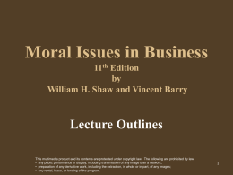 Moral Issues in Business 10th Edition Shaw/Barry 049500717X