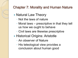 Chapter 5: Kant`s Moral Theory