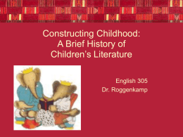 Early History of Children`s Lit