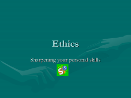 Ethics - TeacherWeb