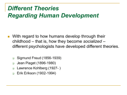 Different Theories Regarding Human Development